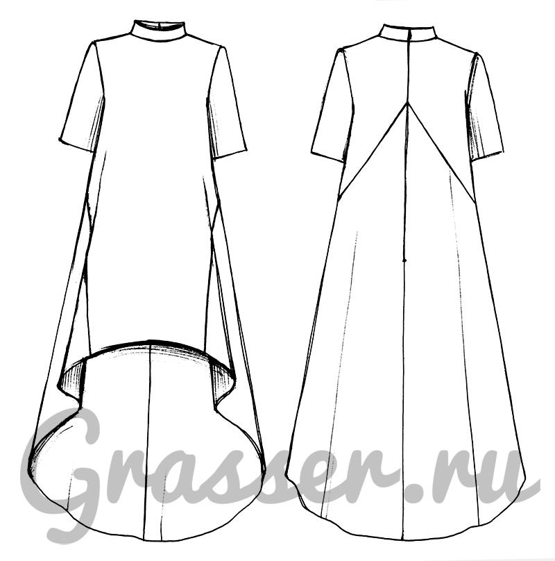 Выкройка на платье миди