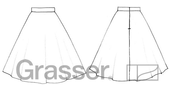 Выкройка юбка полусолнце 46 размер