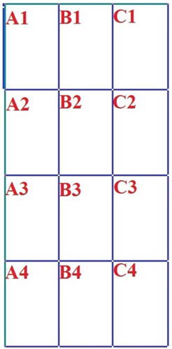 Схема сборки листов выкройки