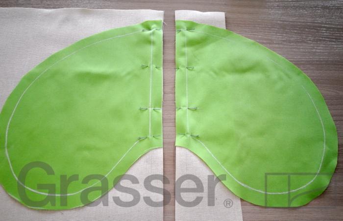 Обработка карманов в боковых швах юбки