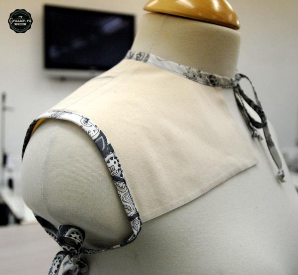 Выкройка плечевой накладки для снятия мерок